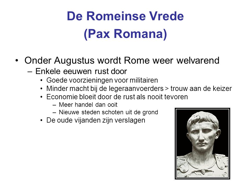 De Romeinse Vrede (Pax Romana)