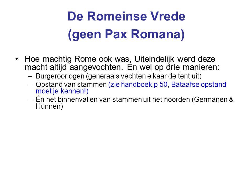 De Romeinse Vrede (geen Pax Romana)
