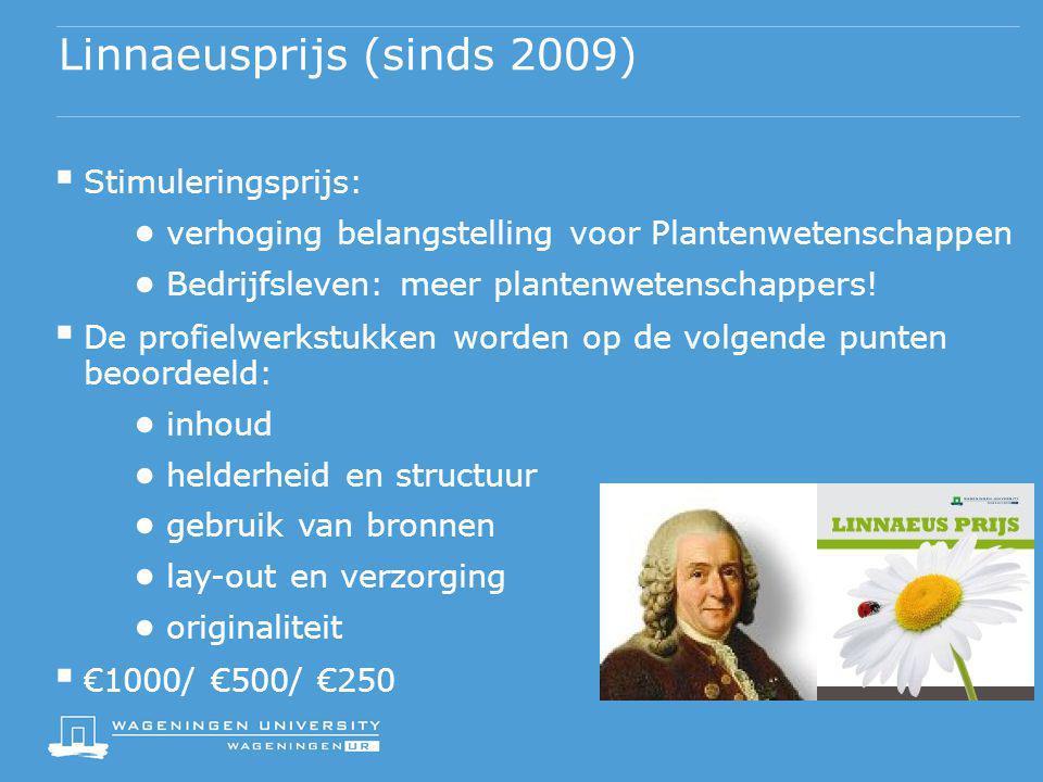 Linnaeusprijs (sinds 2009)