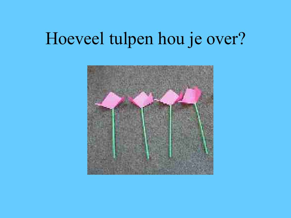 Hoeveel tulpen hou je over