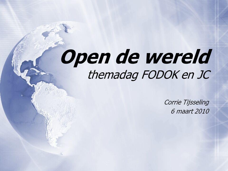 Open de wereld themadag FODOK en JC