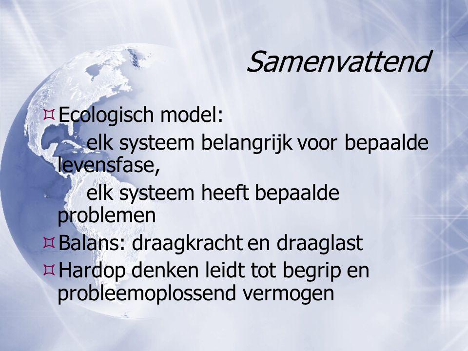 Samenvattend Ecologisch model: