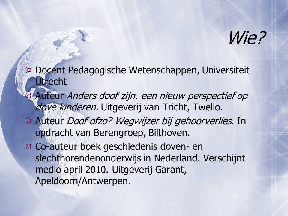 Wie Docent Pedagogische Wetenschappen, Universiteit Utrecht