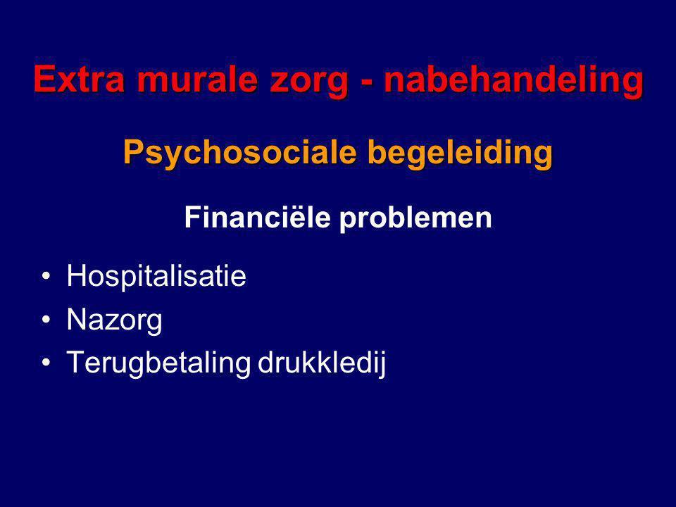 Extra murale zorg - nabehandeling Psychosociale begeleiding