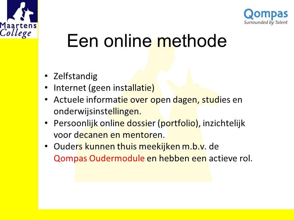 Een online methode Zelfstandig Internet (geen installatie)