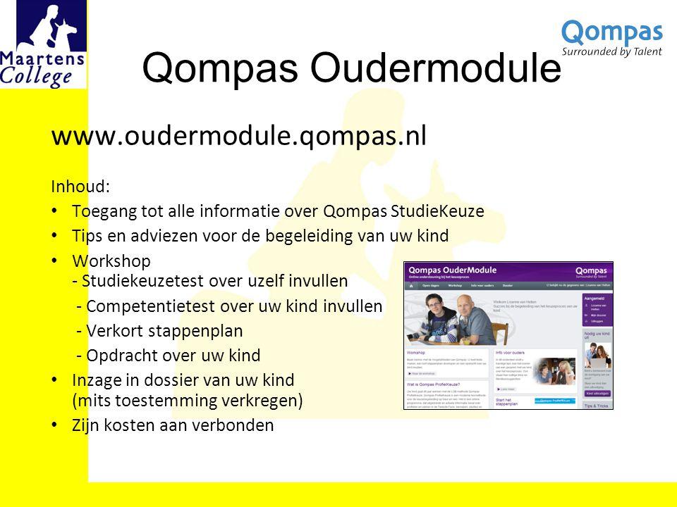 Qompas Oudermodule Inhoud: