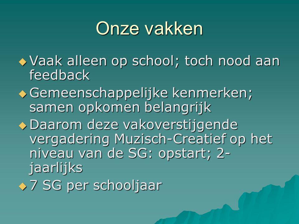 Onze vakken Vaak alleen op school; toch nood aan feedback