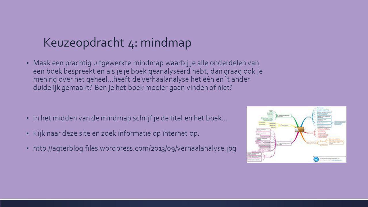 Keuzeopdracht 4: mindmap