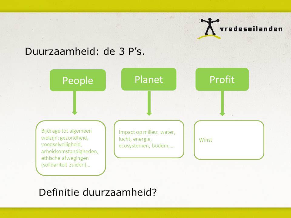 People Planet Profit Duurzaamheid: de 3 P's. Definitie duurzaamheid