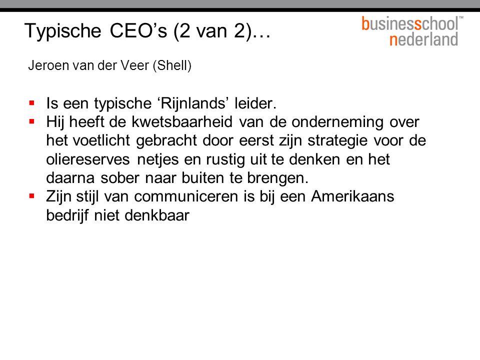 Typische CEO's (2 van 2)… Is een typische 'Rijnlands' leider.
