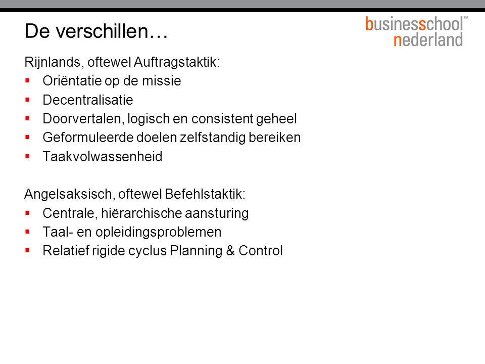 De verschillen… Rijnlands, oftewel Auftragstaktik:
