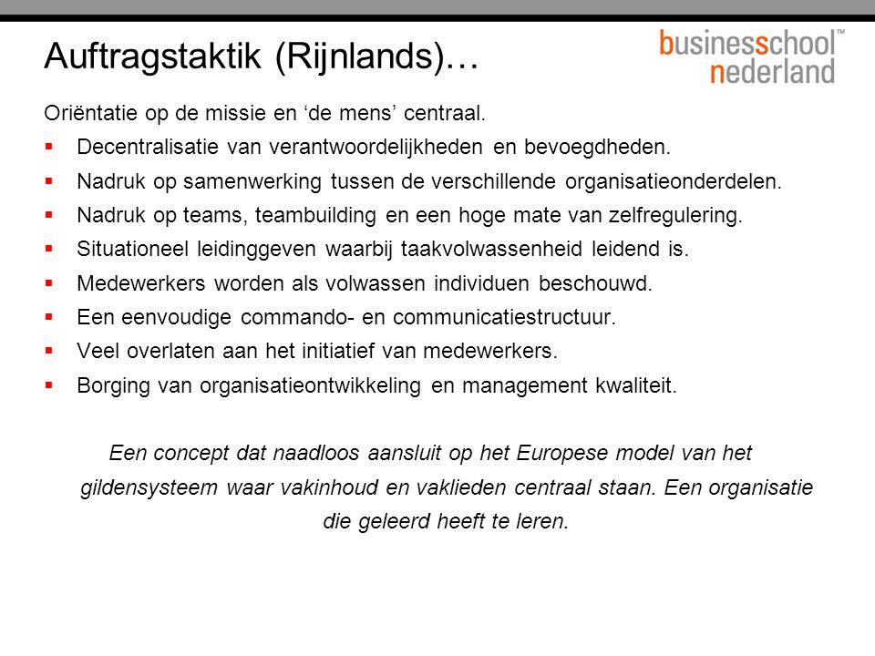 Auftragstaktik (Rijnlands)…