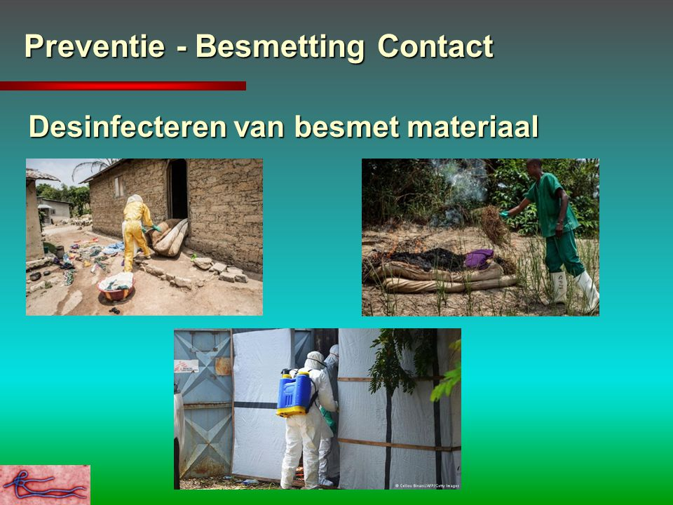 Preventie - Besmetting Contact