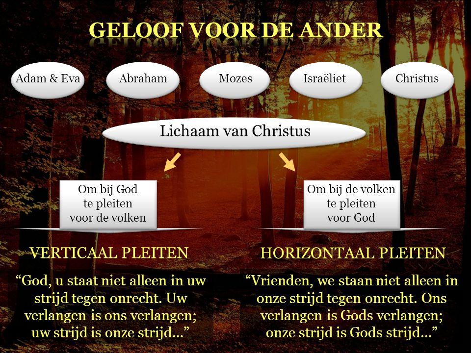 GELOOF voor DE ANDER Lichaam van Christus VERTICAAL PLEITEN