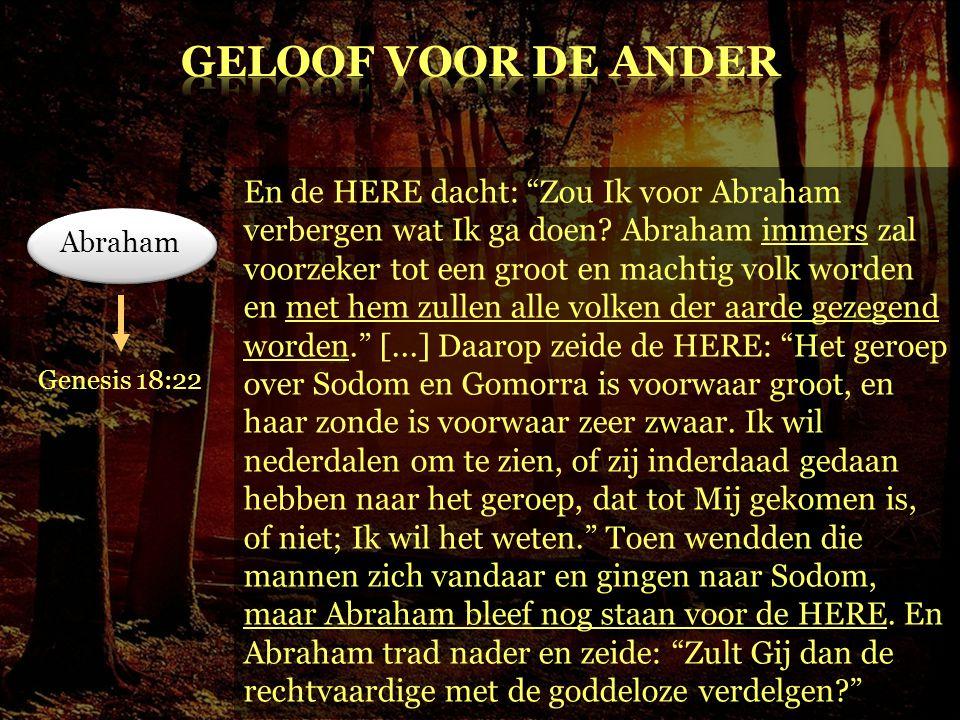 GELOOF voor DE ANDER