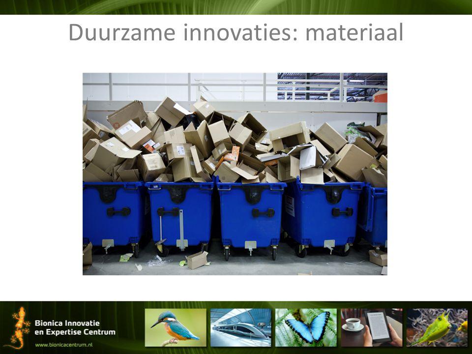 Duurzame innovaties: materiaal