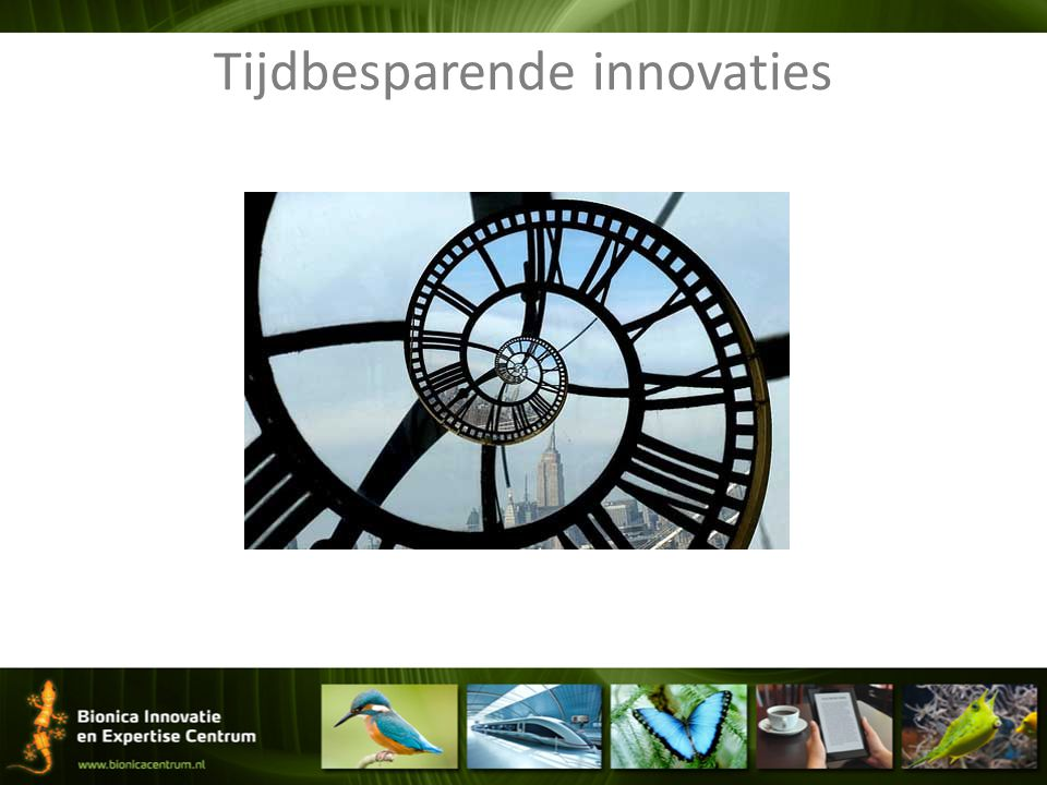 Tijdbesparende innovaties