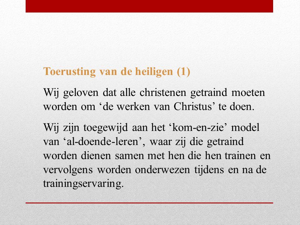 Toerusting van de heiligen (1)