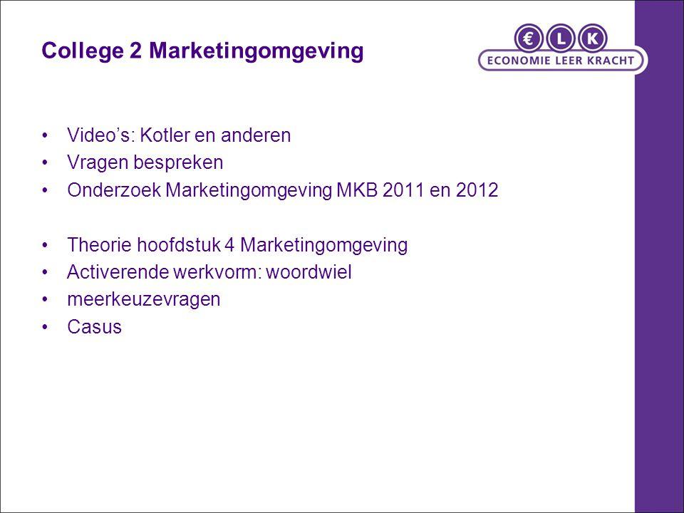 College 2 Marketingomgeving