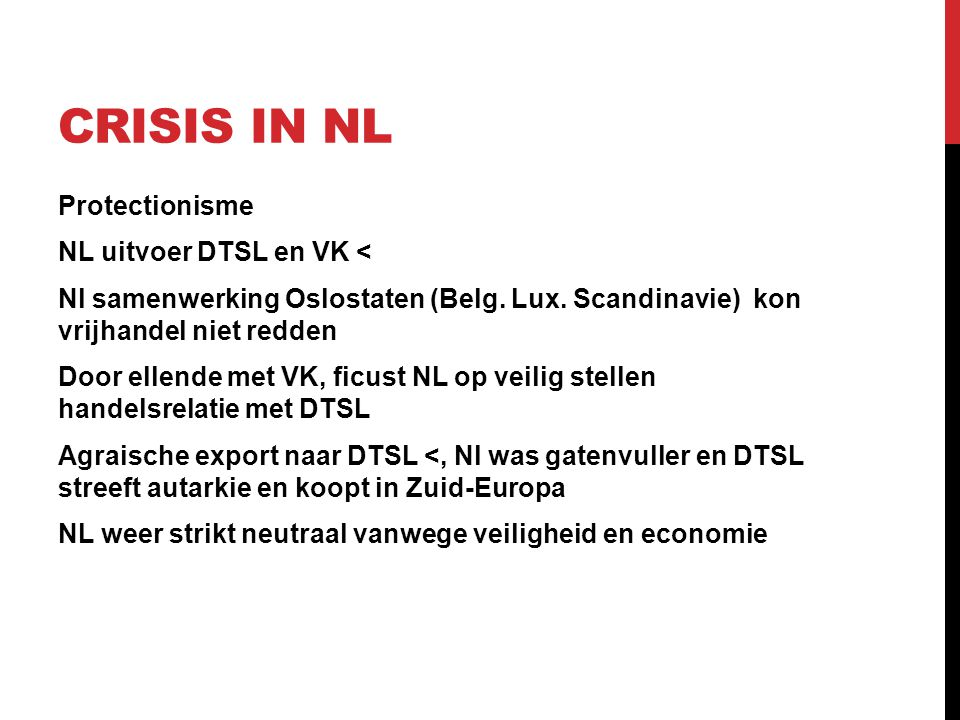 Crisis in NL