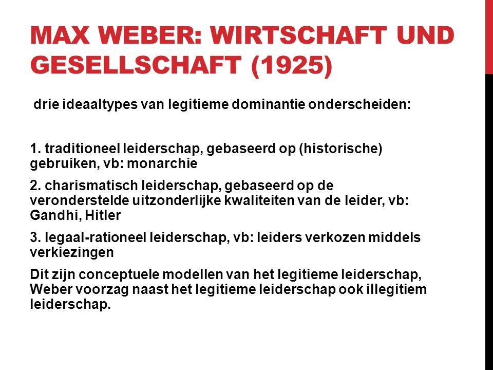 Max Weber: Wirtschaft und Gesellschaft (1925)