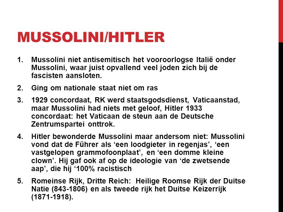 Mussolini/Hitler