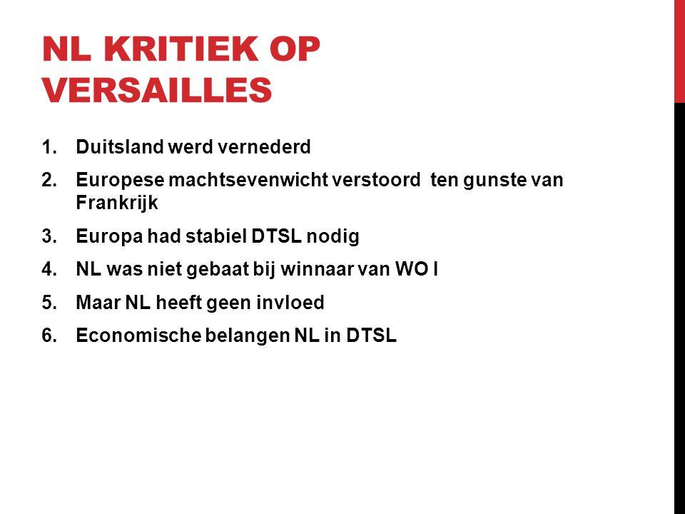 NL kritiek op Versailles