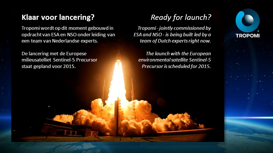Klaar voor lancering Ready for launch
