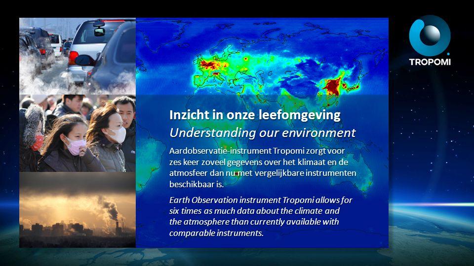 Inzicht in onze leefomgeving Understanding our environment