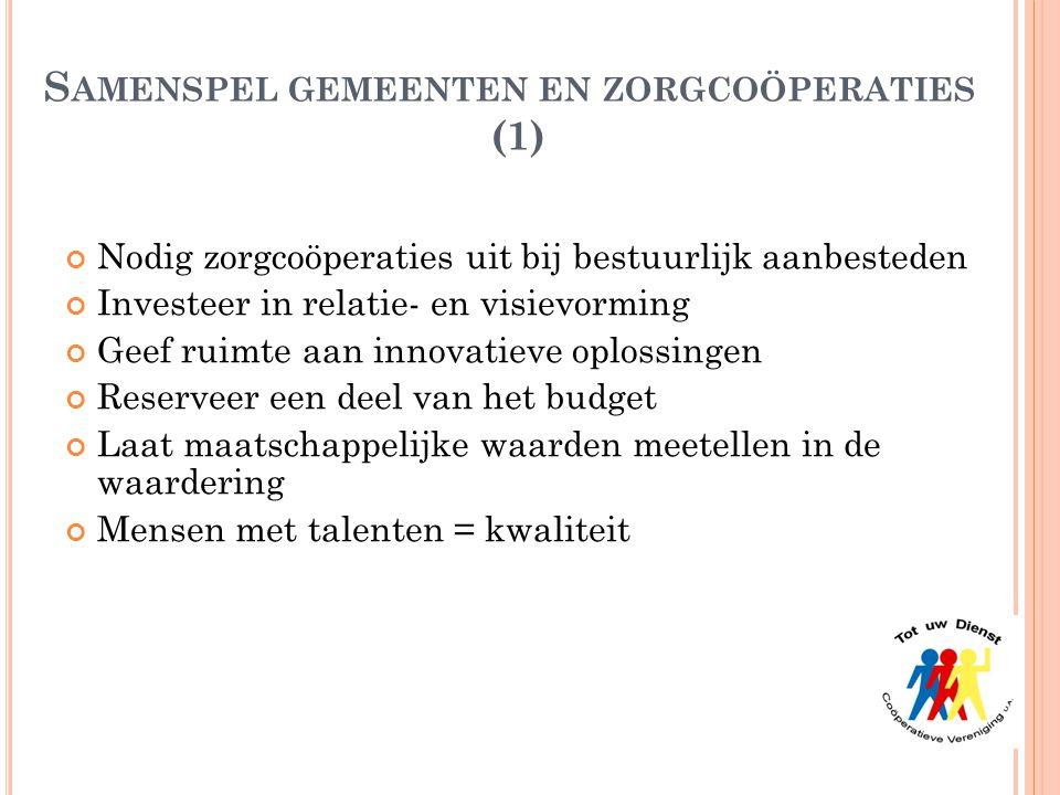 Samenspel gemeenten en zorgcoöperaties (1)