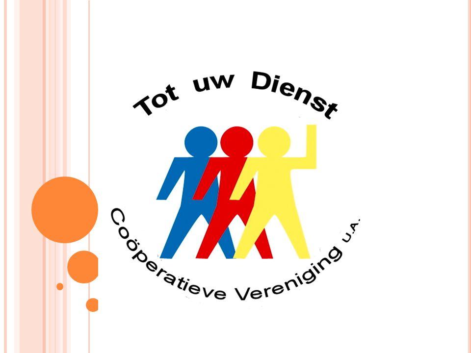 Logo, drie kleuren, drie partijen bij betrokken