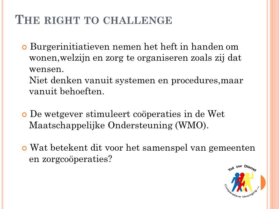 The right to challenge Burgerinitiatieven nemen het heft in handen om
