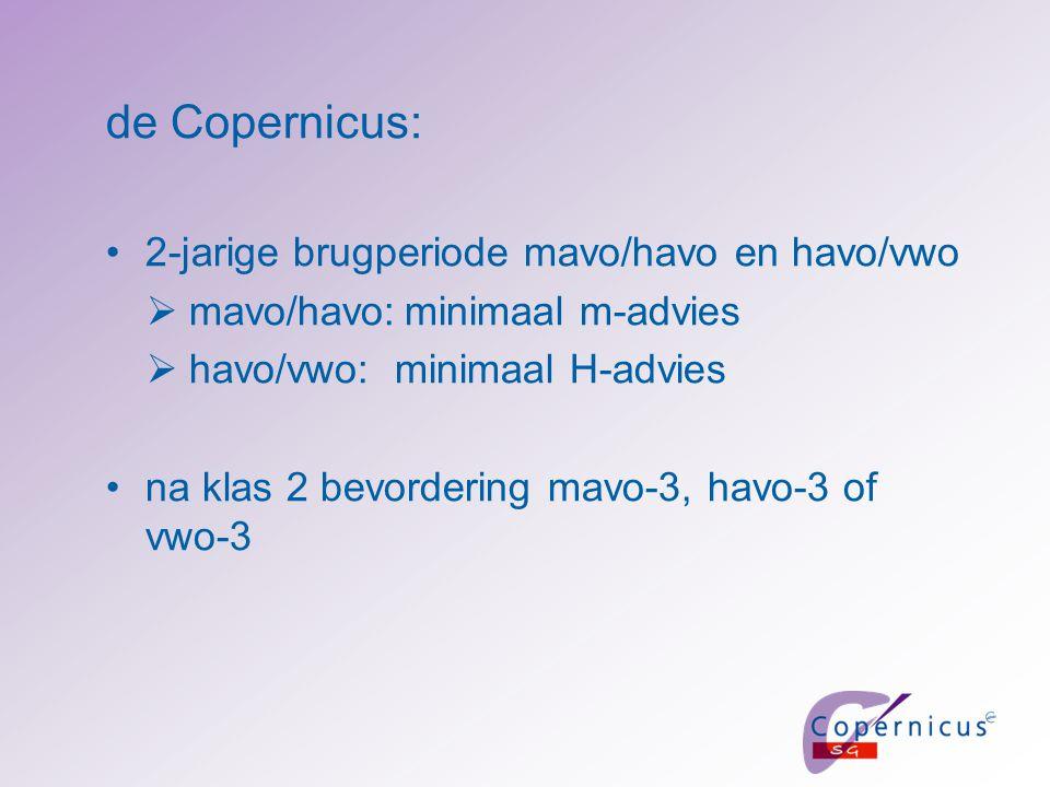 de Copernicus: 2-jarige brugperiode mavo/havo en havo/vwo