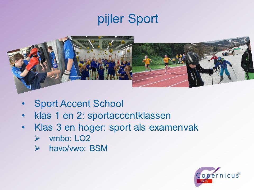 pijler Sport Sport Accent School klas 1 en 2: sportaccentklassen