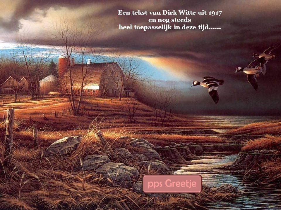Een tekst van Dirk Witte uit 1917