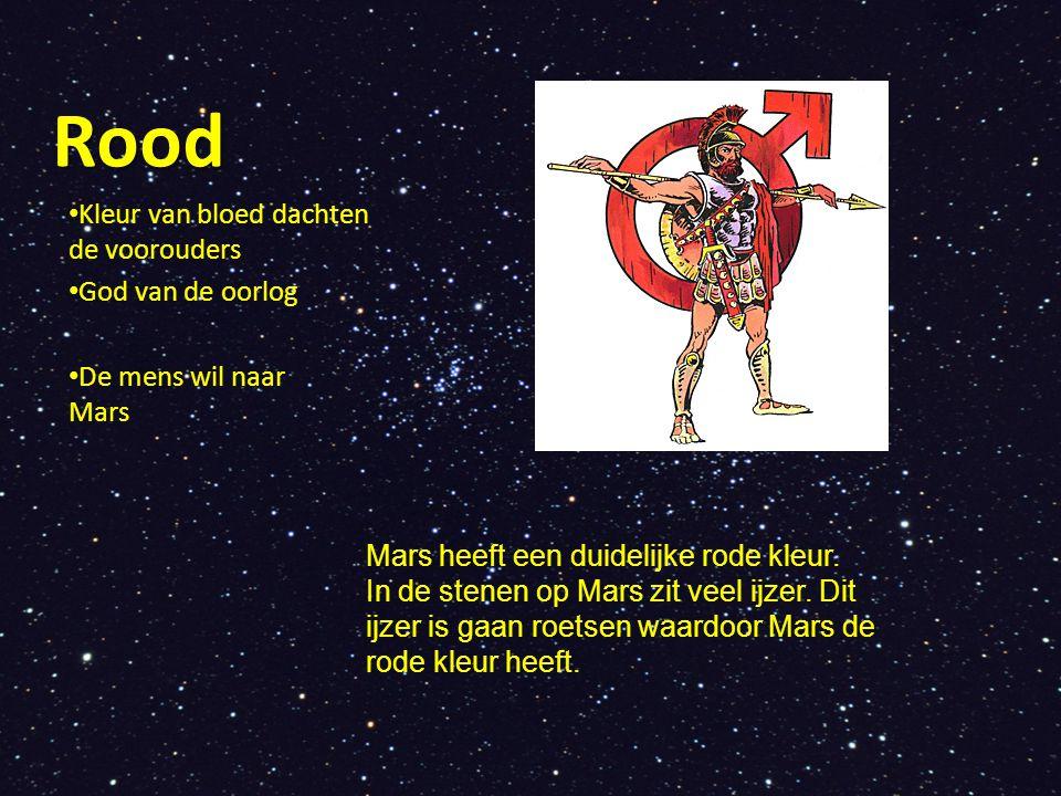 Rood Kleur van bloed dachten de voorouders God van de oorlog