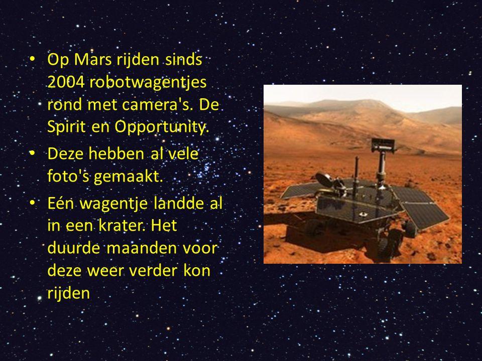 Op Mars rijden sinds 2004 robotwagentjes rond met camera s