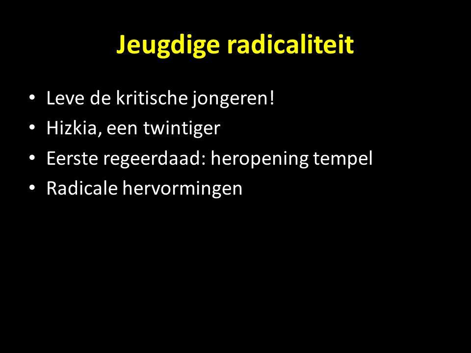 Jeugdige radicaliteit
