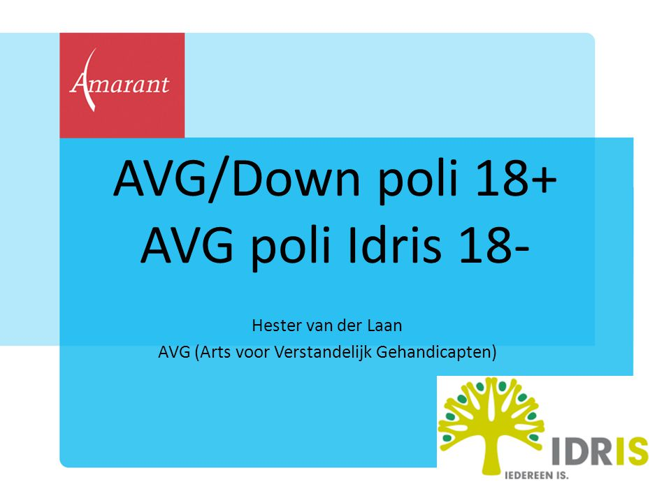 AVG/Down poli 18+ AVG poli Idris 18-