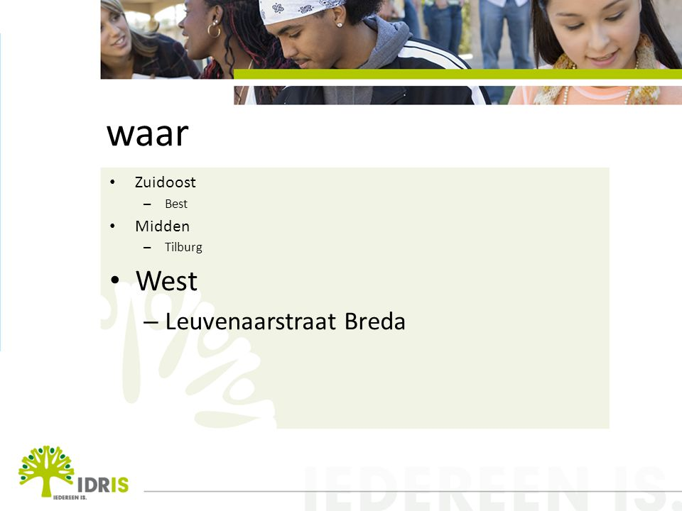 waar West Leuvenaarstraat Breda Zuidoost Midden Best Tilburg
