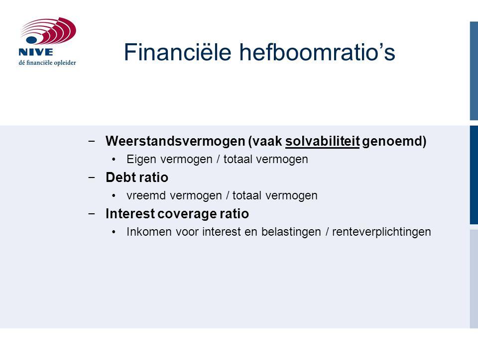 Financiële hefboomratio's