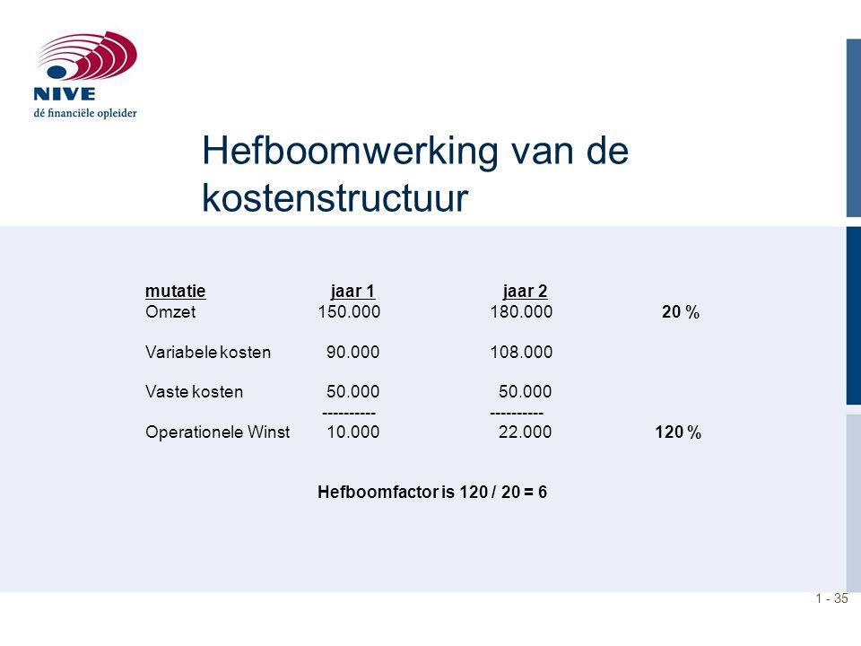 Hefboomwerking van de kostenstructuur