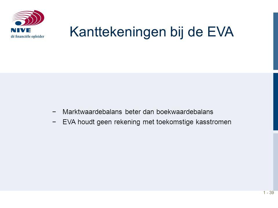 Kanttekeningen bij de EVA