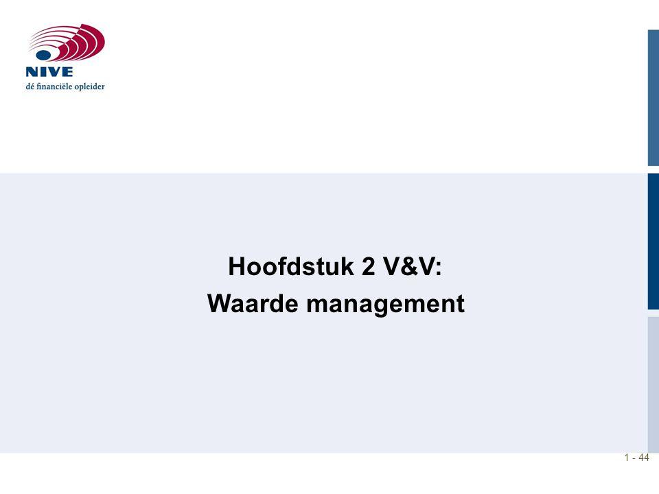 Hoofdstuk 2 V&V: Waarde management