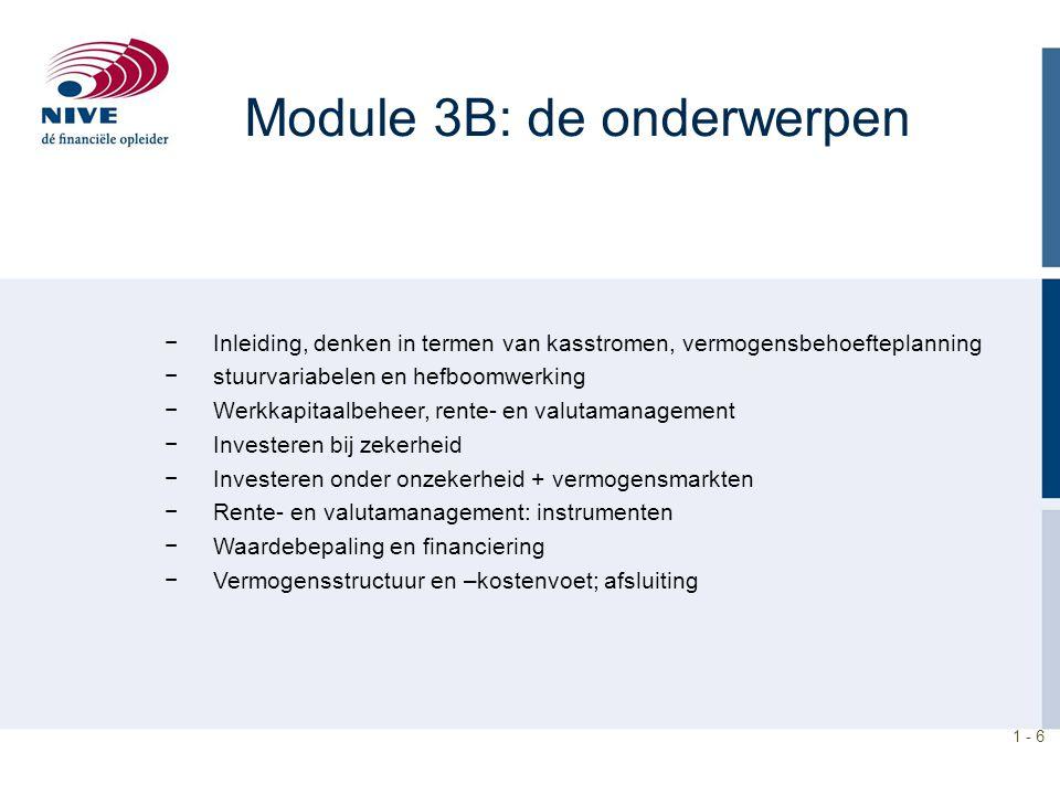 Module 3B: de onderwerpen