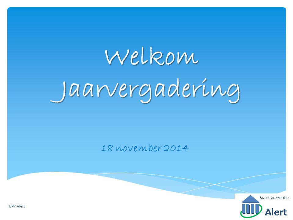 Welkom Jaarvergadering