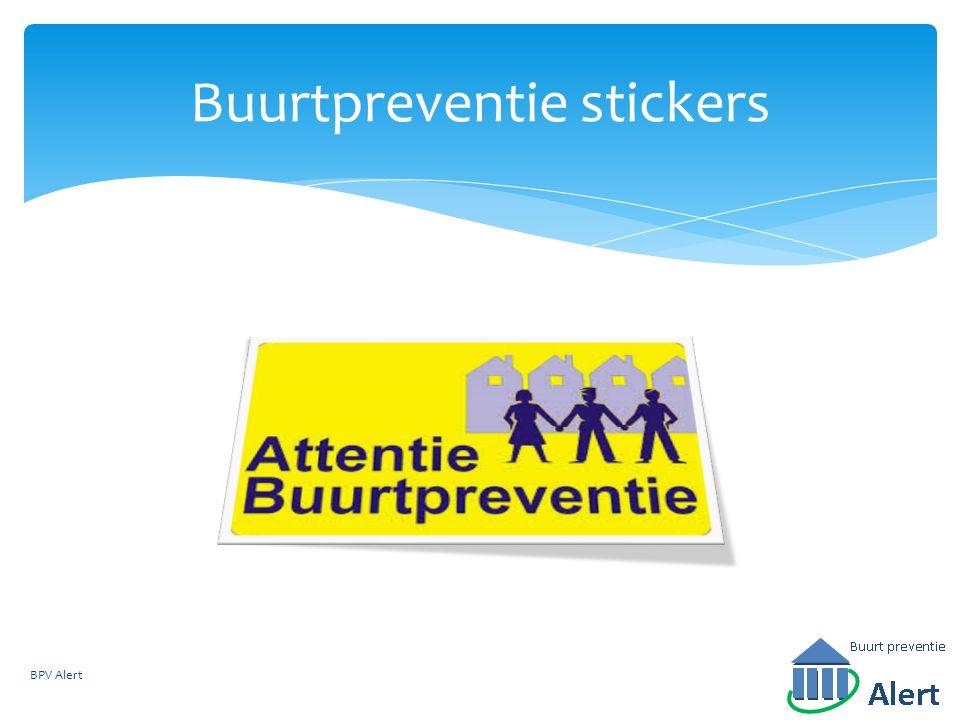 Buurtpreventie stickers