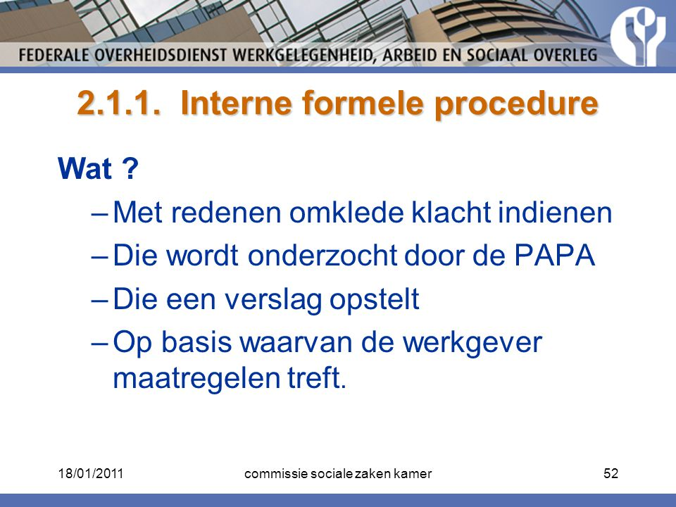 2.1.1. Interne formele procedure