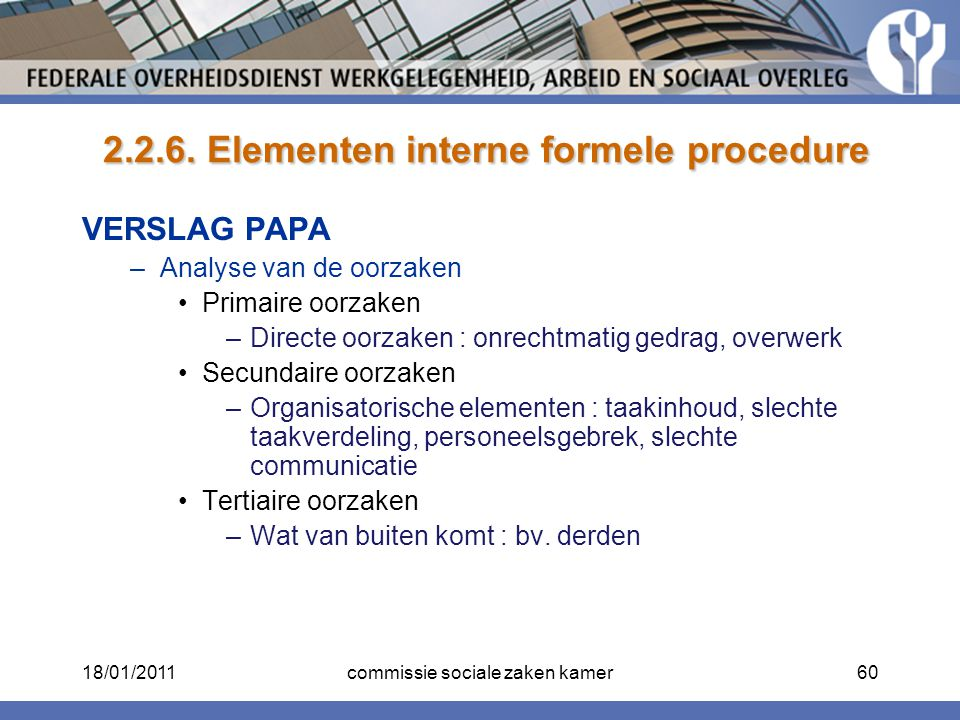 2.2.6. Elementen interne formele procedure