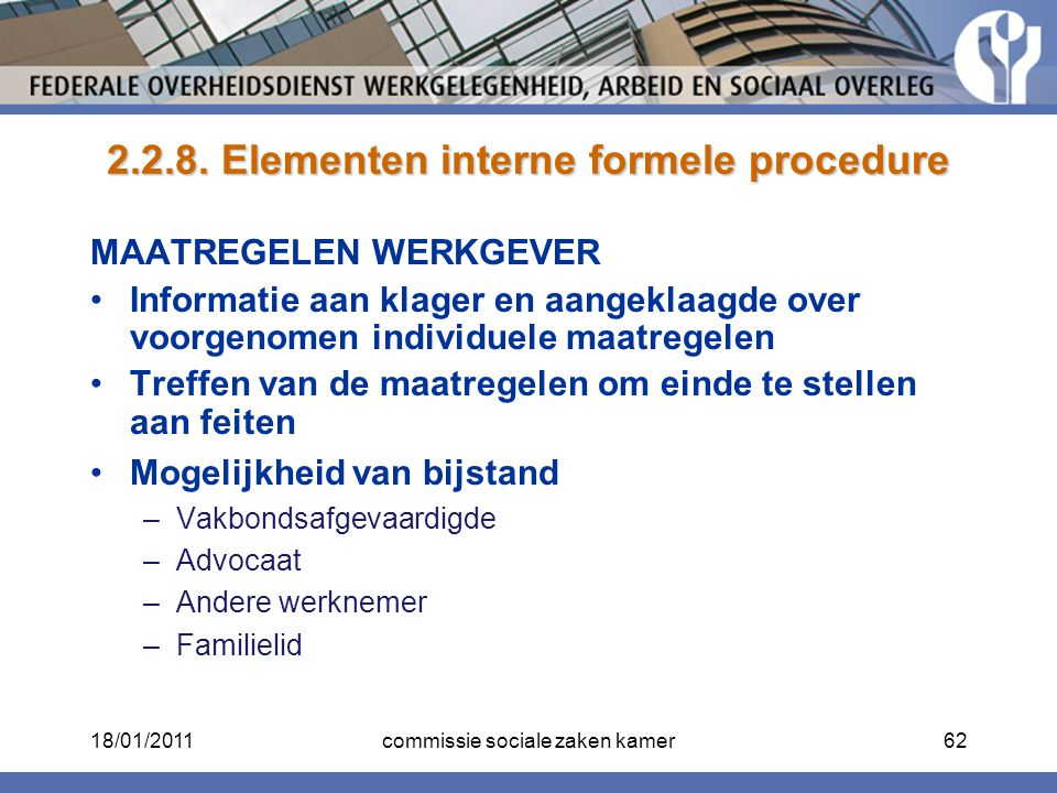2.2.8. Elementen interne formele procedure